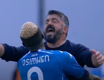 Gattuso su Osimhen: «Mi dice che si sente molto meglio»