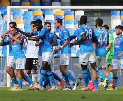 Il Napoli: tutti negativi i tamponi della squadra di Gattuso