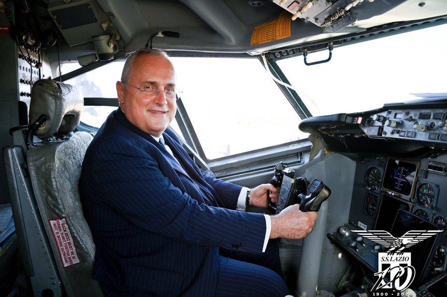 La Lazio non rinnoverà l'accordo per il suo aereo privato