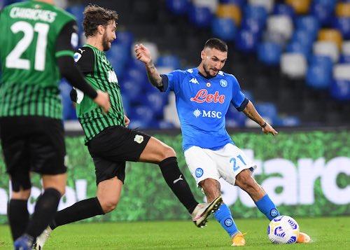 Il Sassuolo ha dato lezione di calcio al Napoli