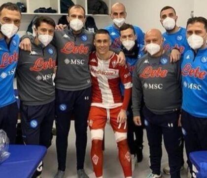 Bufera social su Callejon per la foto scattata nello spogliatoio del Napoli dopo il ko della Fiorentina
