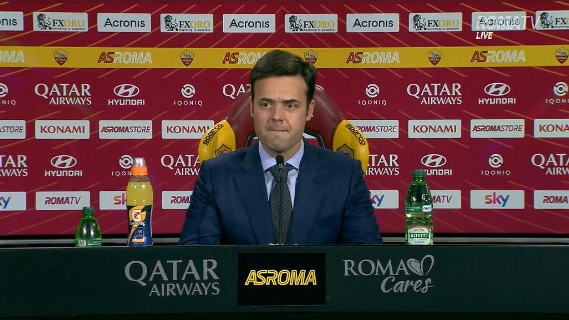 Tiago Pinto: «Fonseca? Non è a rischio. Non sarà questa l'ultima spiaggia»