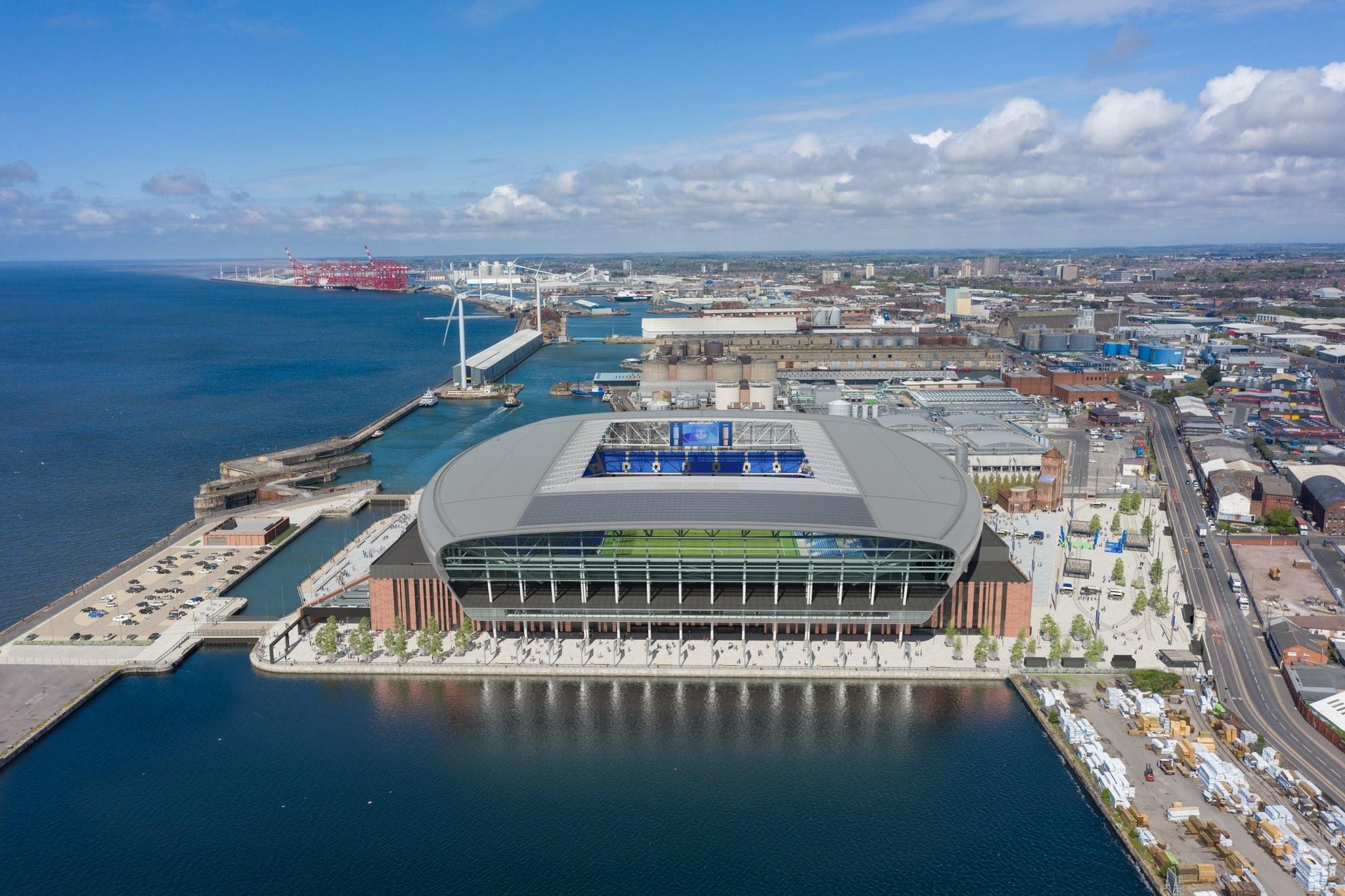 L'Everton avrà un nuovo stadio sul mare per il 2024