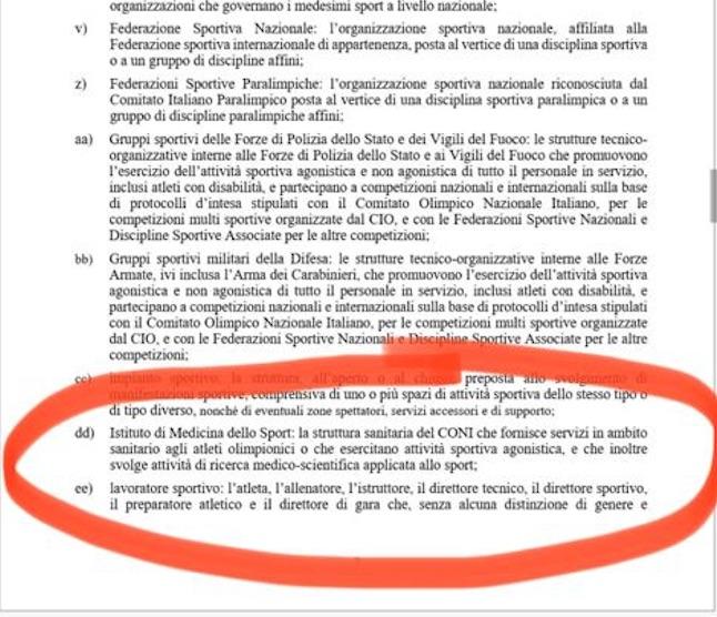 Le manine del governo Draghi, spunta comma su istituto medicina dello sport che passa a Malagò