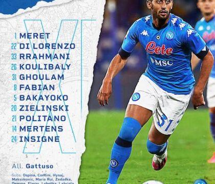Napoli-Benevento |  formazioni |  giocano Ghoulam e Mertens