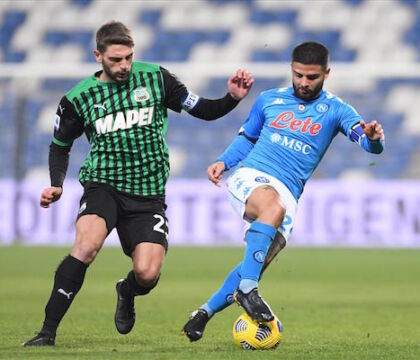 CorMezz: il pari col Sassuolo certifica che il Napoli non può avere ambizioni da grande squadra