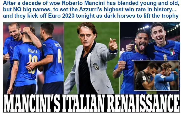 È Mancini il volto dell'Italia che piace all'estero: l'estetica del ct ha già vinto