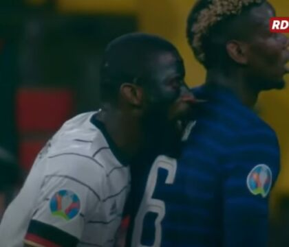 """Il """"morsetto"""" di Rugider a Pogba: «Sì l'ho sentito, ma non voglio che venga squalificato» (VIDEO)"""