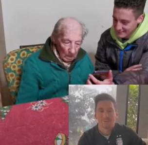 """Il nonno centenario che annota tutti i gol di Messi: """"È l'unica cosa che mi lega a mio nipote"""""""