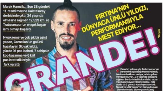 """I turchi di Fanatik omaggiano Hamsik: """"Il grande di Turchia"""""""